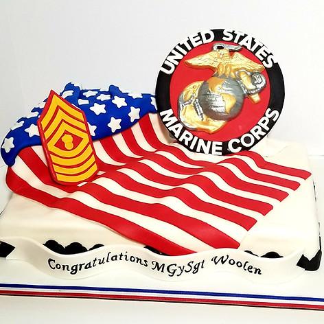 U.S. Marine Corps Cake
