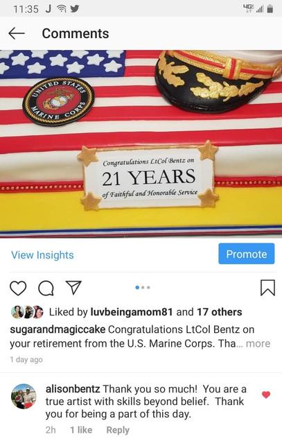 Instagram-USMC Retirement Cake