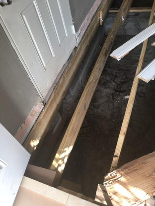 Structural Floor Beam Floor Renovation West Little River Miami Florida
