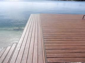 Wooden Deck Lake Catalina Westcher Miami Florida South Florida