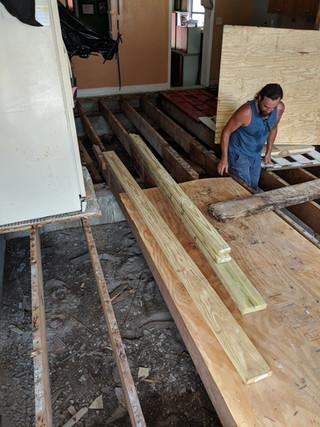 Structural Floor Beam Floor Renovation West Little River Miami Florida