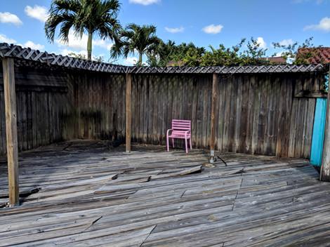 Backyard Wooden Deck Renovation Fountaine Bleau Sweetwater Miami Florida