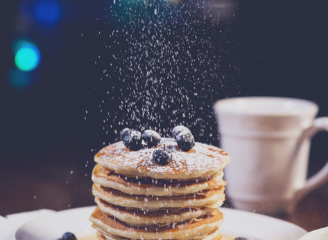 Blueberries + Pancakes by Stacey Antine, MS, RDN