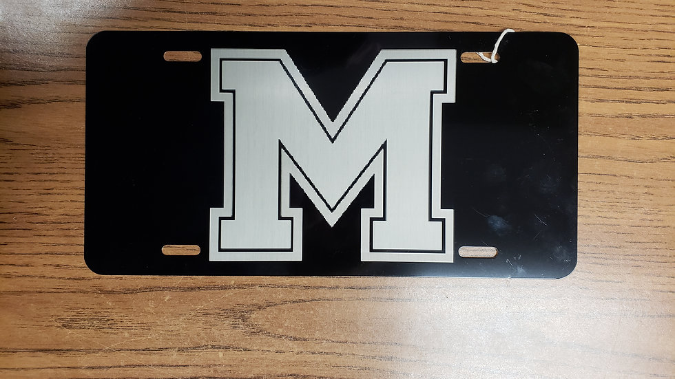 Morgan County License Plate (Black)