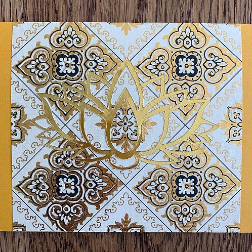 Solar Plexus Chakra Yellow Calcite Meditation Card
