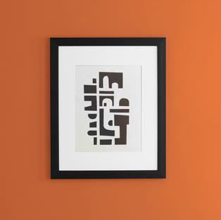front-mockup-of-a-framed-art-print-on-a-