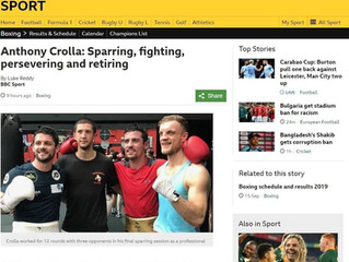Anthony Crolla, Sparring, fighting, persevering and retiring