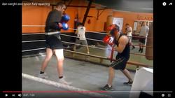 Tyson Fury boxing in blackpool