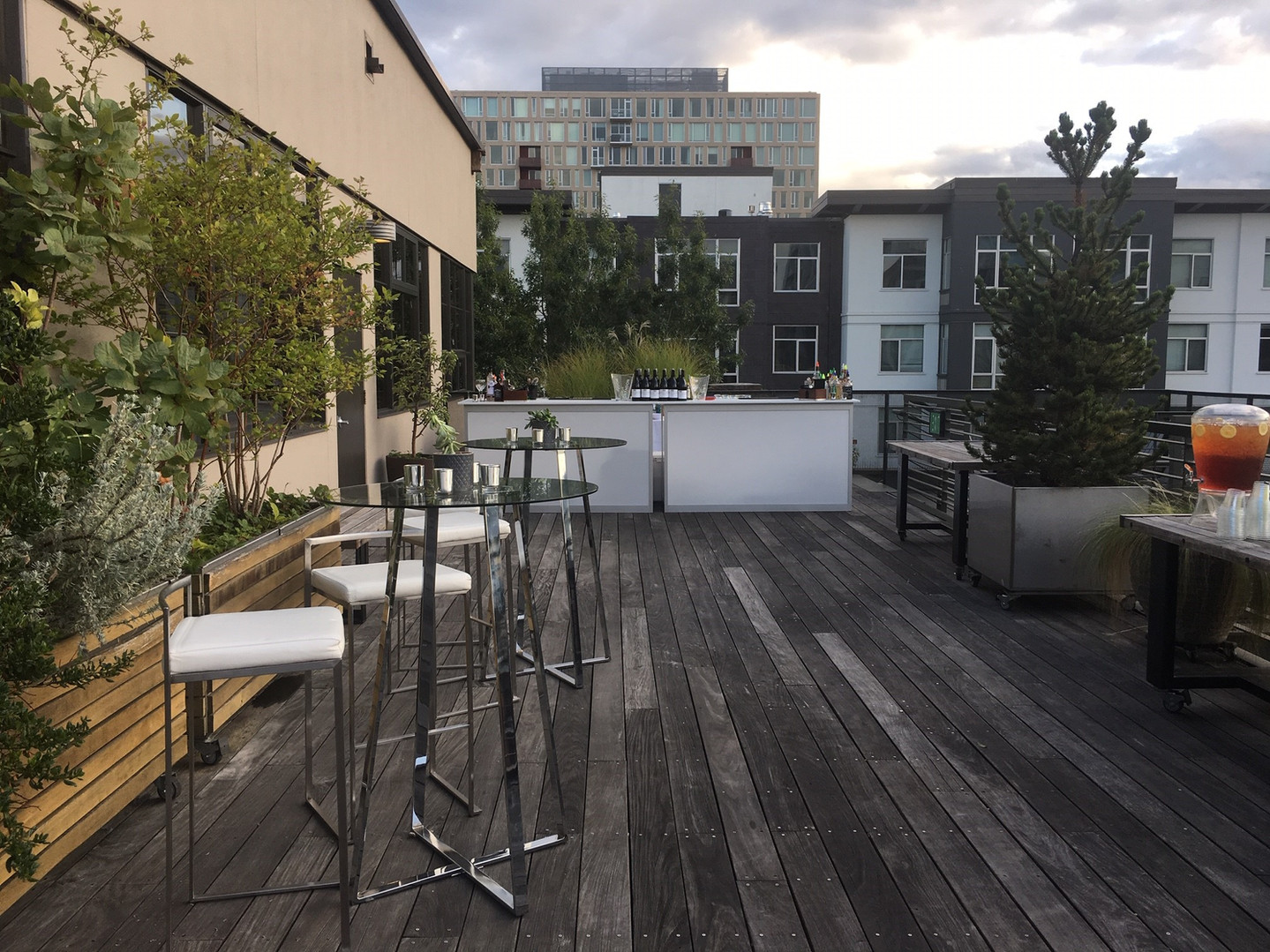 Bar Set up on the South End of the Terrace