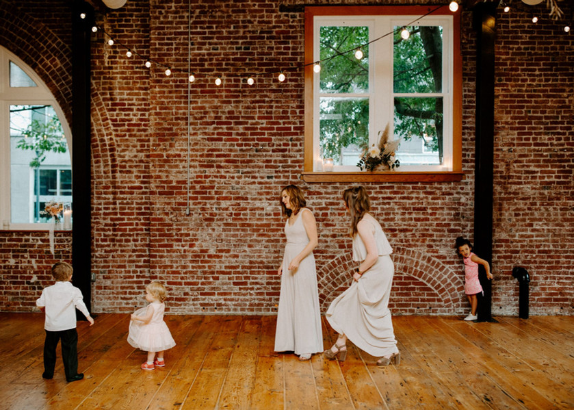 Kids Dancing with Bridal Party