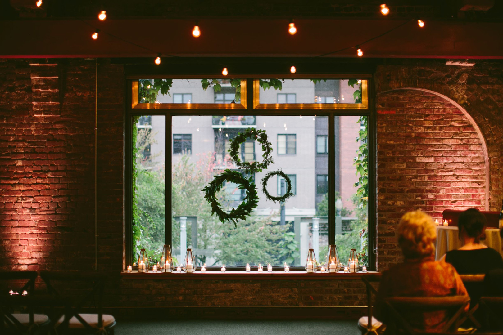 Ceremony Backdrop in the Window