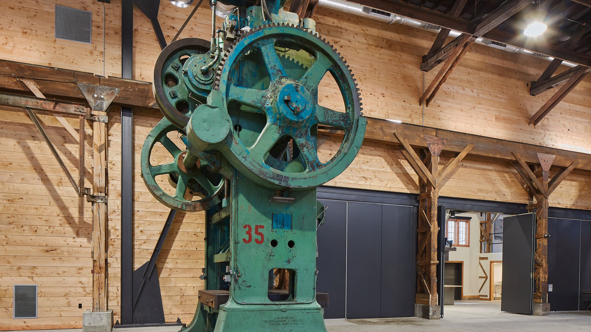 Stamping Press in the Redd Main Hall