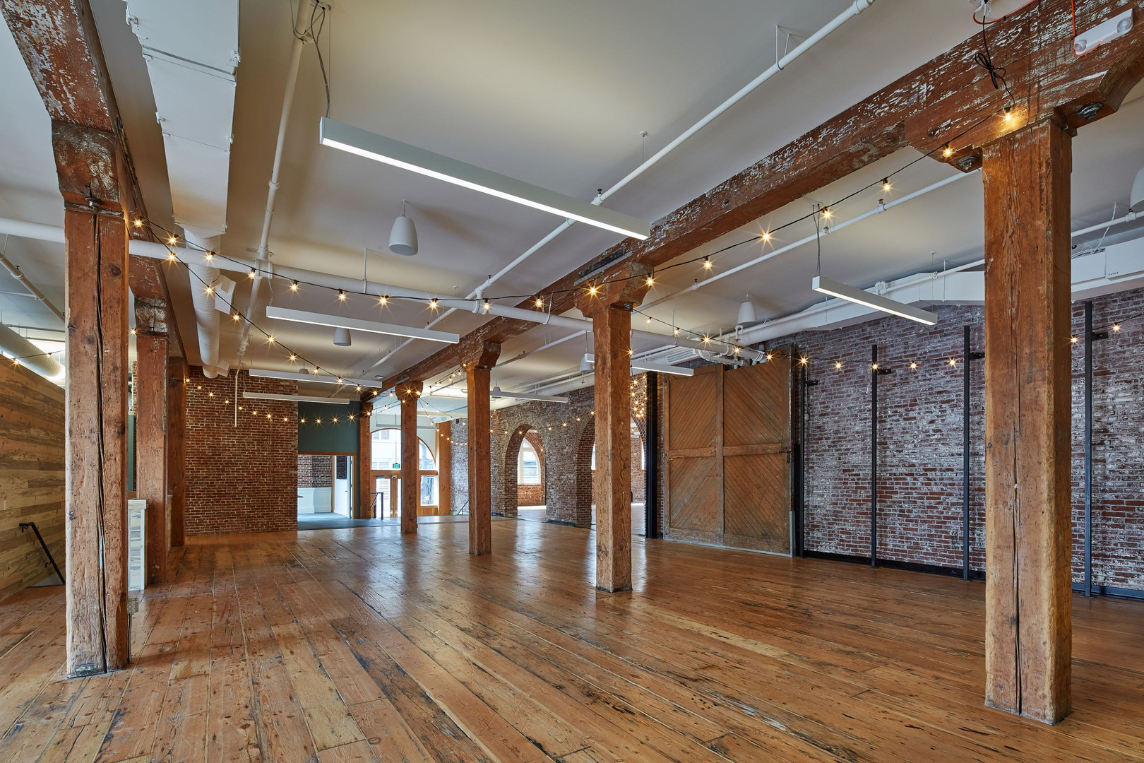 Wood Floors and Exposed Brick Walls in the Irving Street Studio