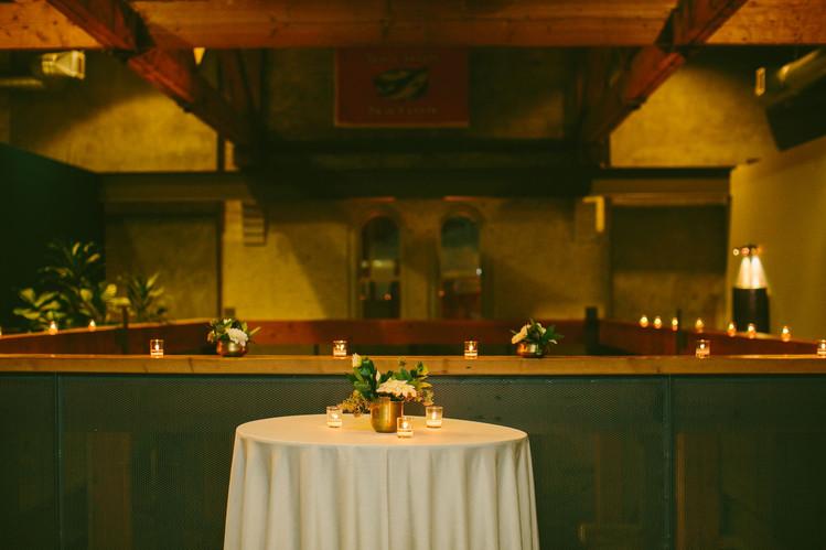 Cocktail reception in the Atrium