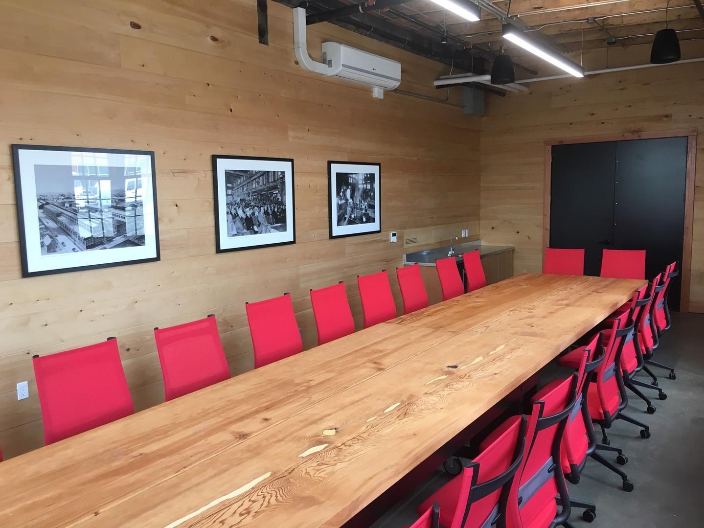 Custom board table in the Board Room