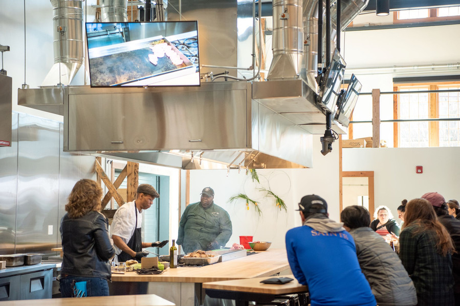 A Cooking Class in the Community Kitchen