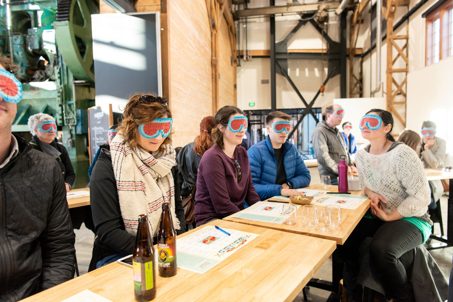 Guests Play Blind Tasting Bingo in the Community Kitchen