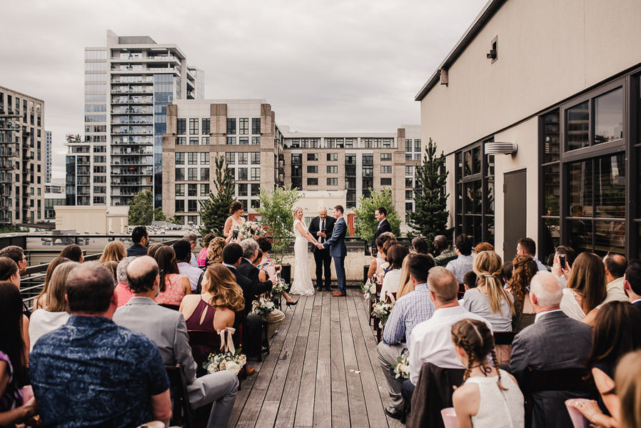 Rooftop Ceremony on the North Side of Terrace