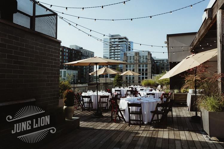 Rooftop Dinner Reception