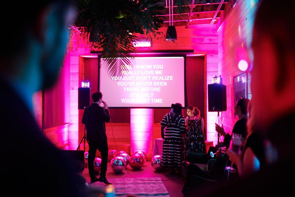 Private karaoke suite
