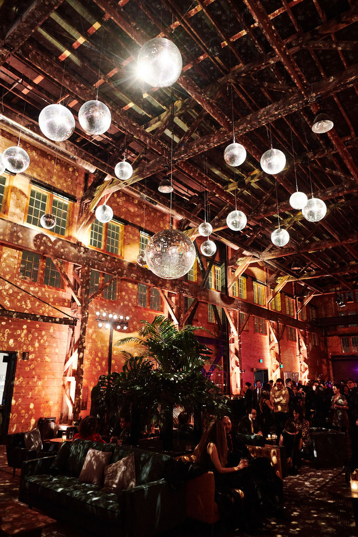 Festive Lighting and Decor in Redd Main Hall