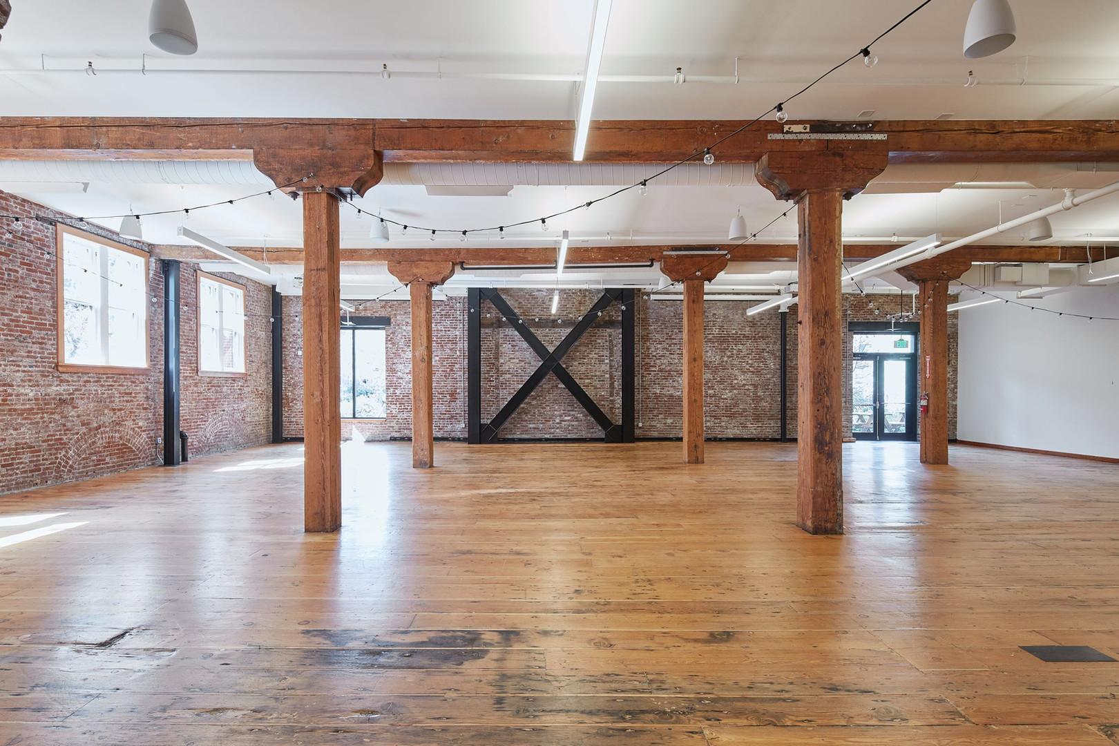 Warm Wood Floors of the Irving Street Studio