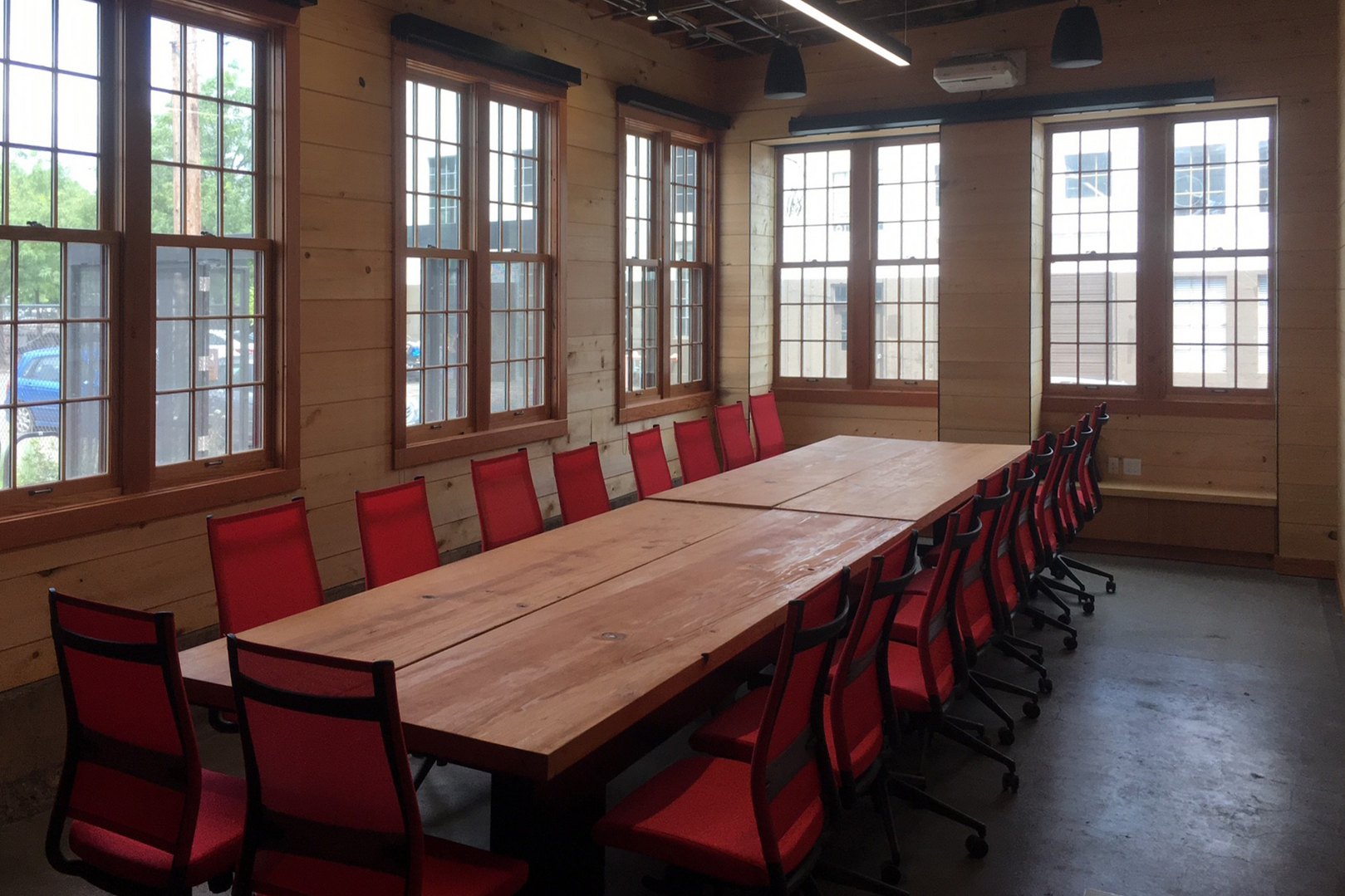 Board Room with board table and chairs
