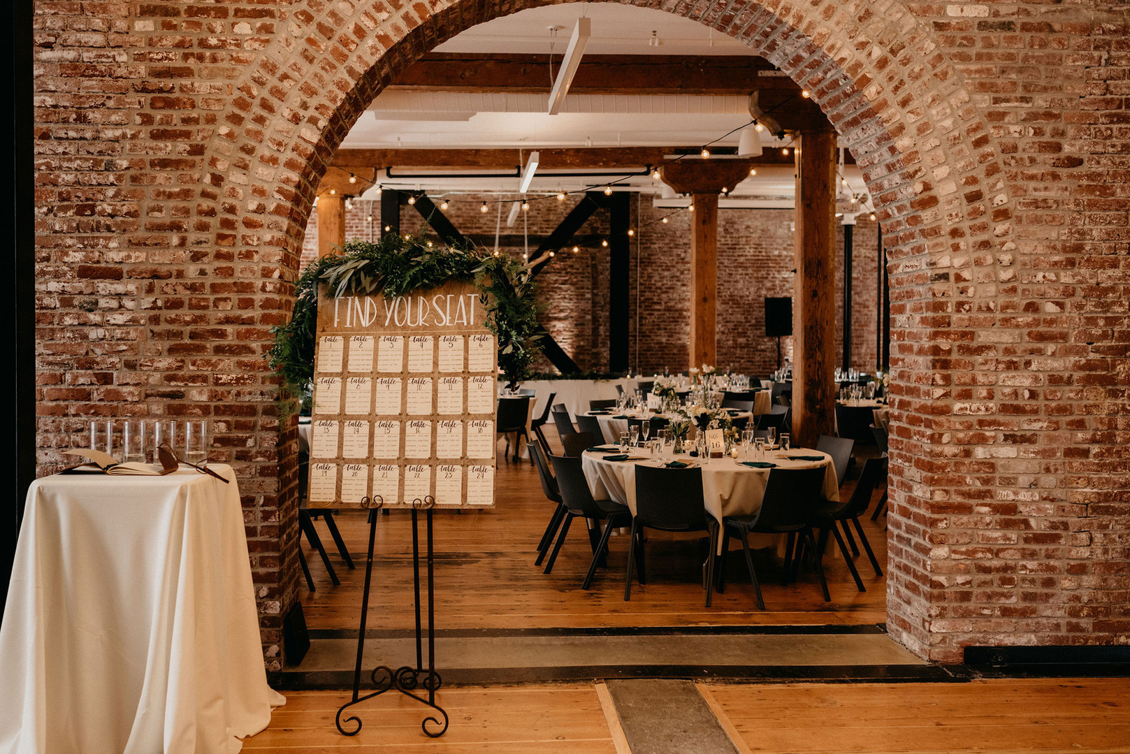 Seating Chart under the Brick Archways