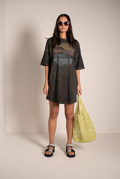 Oversized Print Tee Dress