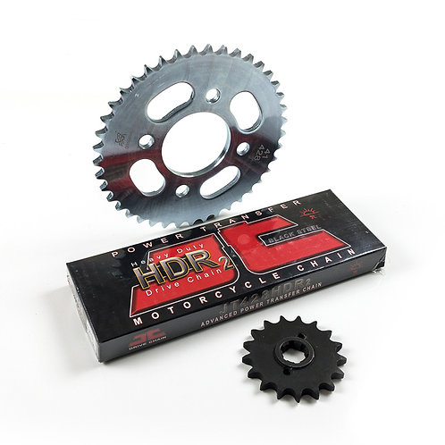 02. Drive chain 428-134 with front (15T) & rear (41T) sprocket set