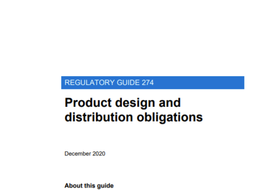 """ASIC releases RG 274 - """"Product Design and Distribution Obligations"""""""