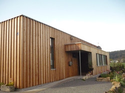 Fassade aus Holz