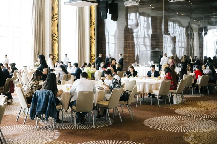 Baku Travel Bazaar, lunch-time