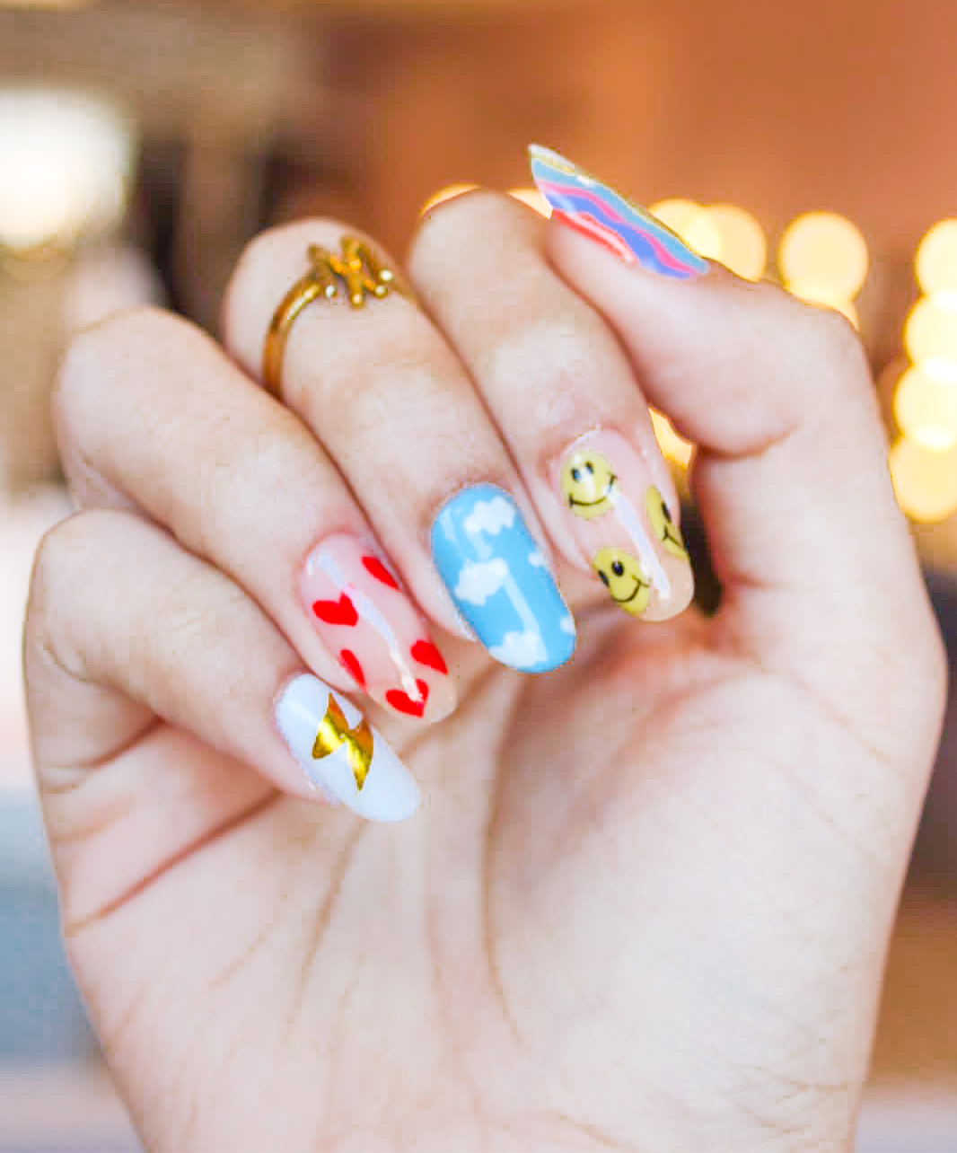 Gelly Extensions + Funky Nails