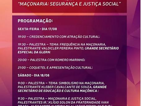 XXVII SIMPÓSIO DE CULTURA MAÇÔNICA DO ESTADO DO RN