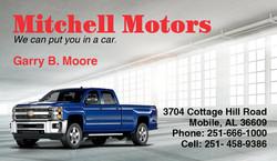 Mitchell Motors Business Card