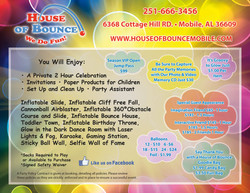 House of Bounce Flyer-Back