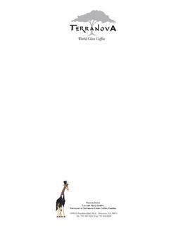 Terra Nove Coffee Letterhead