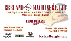 Breland Machinery Business Card