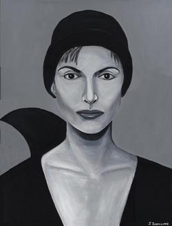 Lady in Black Cap