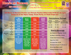 House of Bounce Flyer - Front