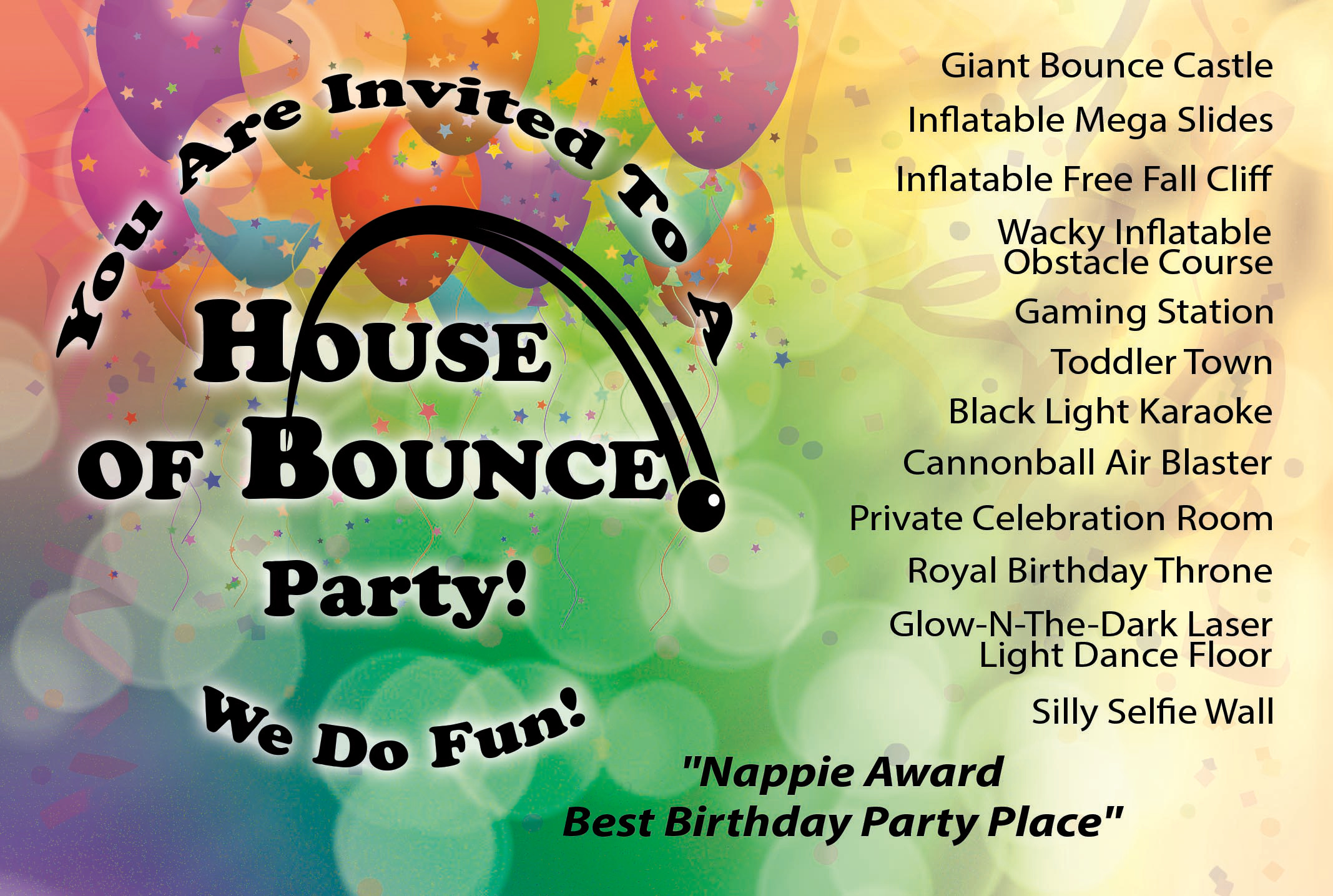 House of Bounce Postcard