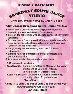 Broadway South Dance Flyer
