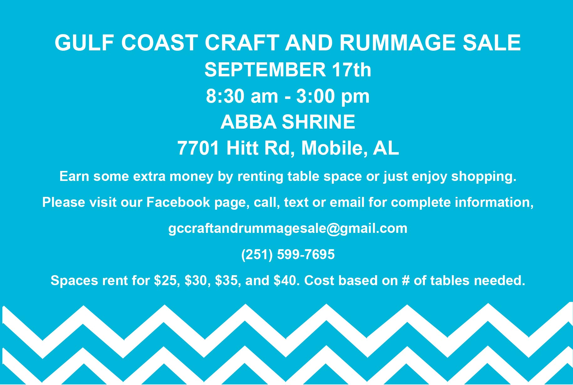 Gulf Coast Craft & Rummage Postcard
