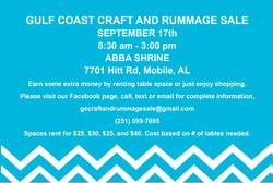 Gulf Coast Craft & Rummage Postcard