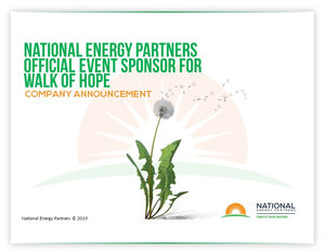 National Energy Partners Official Sponsor for Walk of Hope