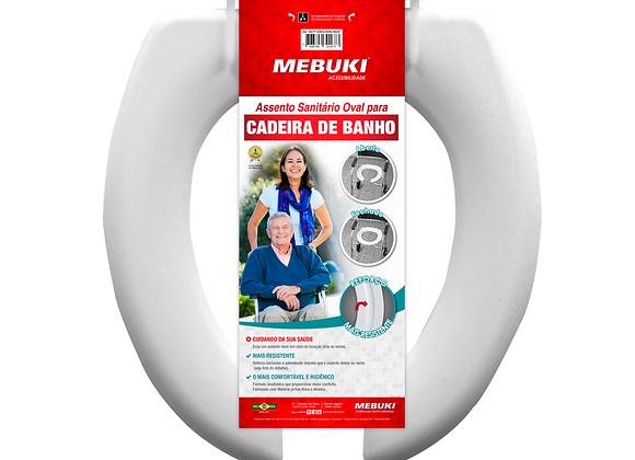 Assento sanitário oval para cadeira de banho