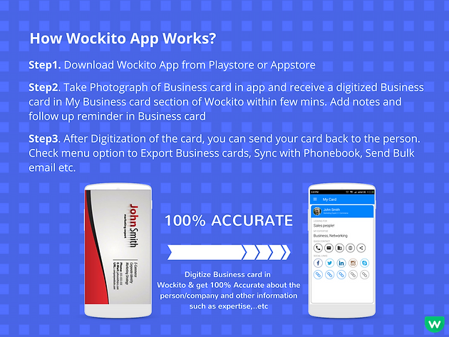 How wockito app works best business card scanner how wockito app works colourmoves