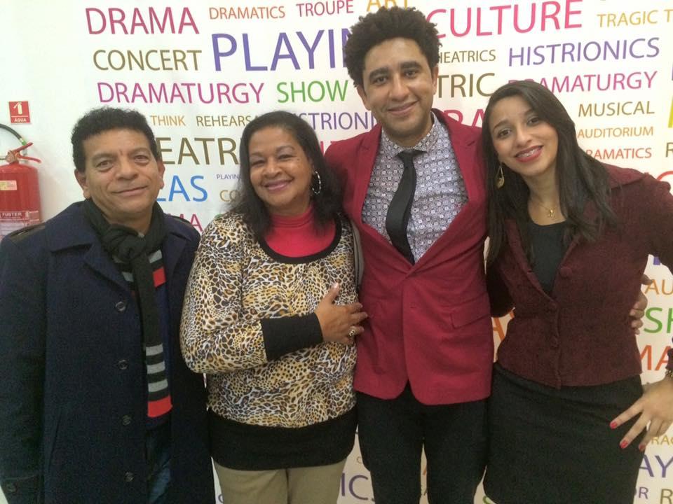 Douglas, sogra Lucia e cunhada Ceci