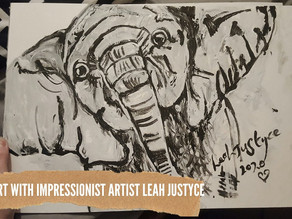 DAILY ART VIDEO | AMAZING ART VIDEO | PAINTING A BABY ELEPHANT [Leah Justyce Artist]